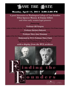 Finding the Founders, April 14