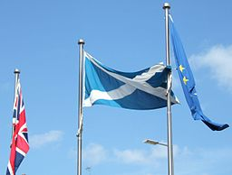 Photo: Flags outside the Scottish Parliament by Calum Hutchinson CC-BY-SA-2.5