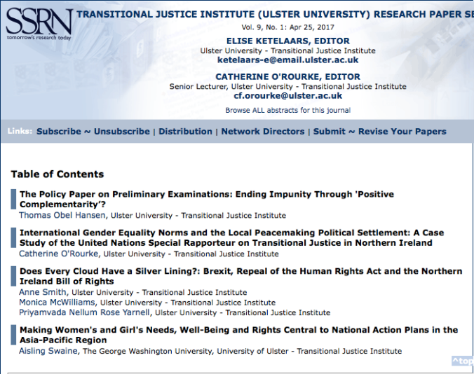 Launching The Spring Issue Of The Transitional Justice Institute  Screen Shot  At