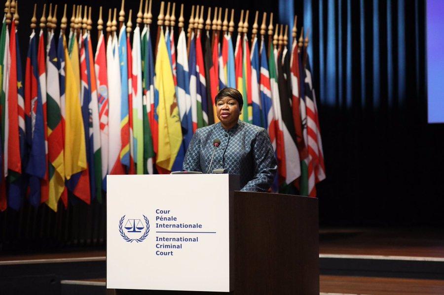 ICC Prosecutor at ICC ASP18